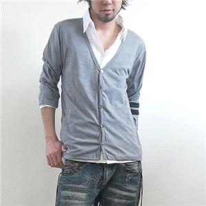 七分袖カーディガンアンサンブル(GRN09-180) グレー Lサイズ