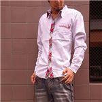 リバーシブルカジュアルチェックシャツ(590047) レッド Lサイズ