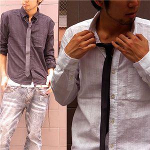 ネクタイつきシャツ(570052) ブラック Mサイズ