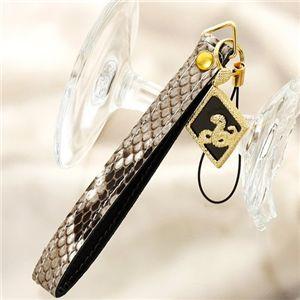 蛇皮ダイヤモンドストラップ(ユニセックス)