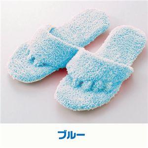 洗える携帯5本指マイスリッパ 【同色2足組みセット】 ブルー の詳細をみる