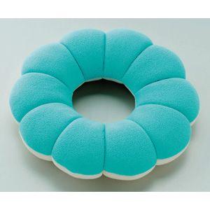 マイクロビーズが入った柔らかドーナツクッション ブルーの商品画像大