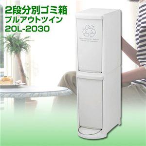 2段分別ゴミ箱 プルアウトツイン【バーゲン通販】