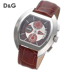 D&G(ディー・アンド・ジー) HIGH SECURITY クロノグラフ レザーウォッチ DW0213