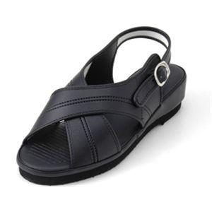 足型形状記憶ナースサンダル(フットフォーム) ブラック L