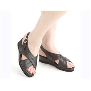 足型形状記憶ナースサンダル(フットフォーム) ブラック M