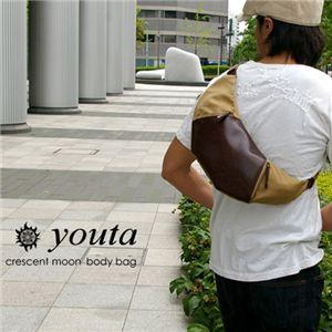youta/ヨータ 三日月ボディバッグ Y-0018 キャメル