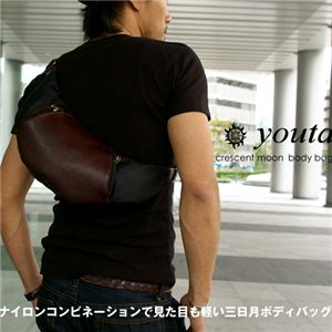youta/ヨータ 三日月ボディバッグ Y-0018 ブラック/ブラウン