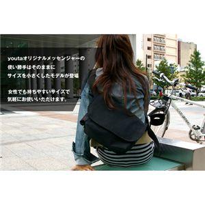youta(ヨータ) フェイクスエード&ヘリンボーン メッセンジャーバッグM Y-0017/ヘリンボーンブラック
