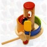 ★PLAN TOYSの木製玩具(木のおもちゃ)★タワーパウンディング