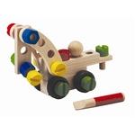 ★PLAN TOYSの木製玩具(木のおもちゃ)★コンストラクションセット30