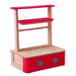 ★PLAN TOYSの木製玩具(木のおもちゃ)★キッチンコンロ