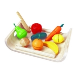 ★PLAN TOYSの木製玩具(木のおもちゃ)★3416★ 詰め合わせフルーツアンドベジタブル