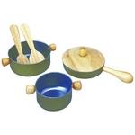 ★PLAN TOYSの木製玩具(木のおもちゃ)★3413★ 調理用具セット