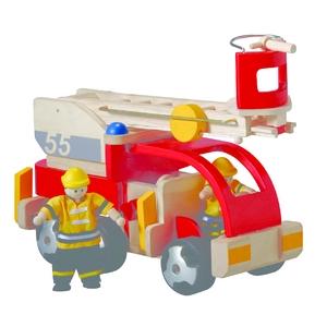 ★PLAN TOYSの木製玩具(木のおもちゃ)★6310★ 消防車