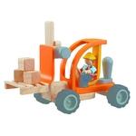 ★PLAN TOYSの木製玩具(木のおもちゃ)★6308★フォークリフト