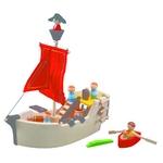 ★PLAN TOYSの木製玩具(木のおもちゃ)★6105★ 海賊船