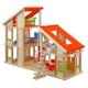 ★PLAN TOYSの木製玩具(木のおもちゃ)★7141★ 家具付きシャレードールハウス 写真1