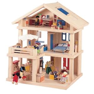 ★PLAN TOYSの木製玩具(木のおもちゃ)★71081★ テラスドールハウス