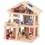 ★PLAN TOYSの木製玩具(木のおもちゃ)★71081★テラスドールハウス