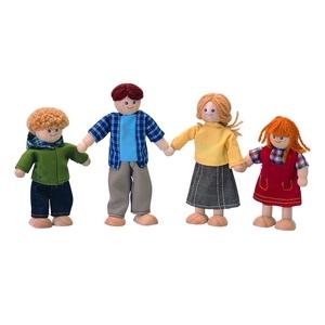 ★PLAN TOYSの木製玩具(木のおもちゃ)★7415★ ドールファミリー