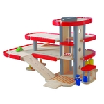 ★PLAN TOYSの木製玩具(木のおもちゃ)★6227★ パーキングガレージ