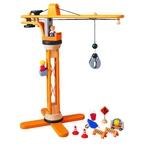 ★PLAN TOYSの木製玩具(木のおもちゃ)★6086★クレーンセット