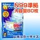 新型インフルエンザ対応不織布マスクモースダブルプロテクションプラス(レギュラーサイズ)80枚お得セット