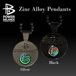 POWERBALANCE Zinc Alloy Pendants(ネックレス/ブラック)