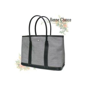 ♪最高級品質BonneChanceおしゃれなキャンバス地トートバッググレー