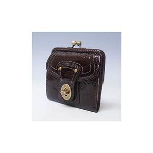 COACH(コーチ) レガシーパテントレザーフレンチ2折財布 ブラウン