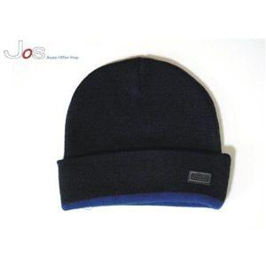 寒い季節の必需品 【COACH(コーチ) ニット キャップ ブラック×ブルー 80095