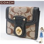 COACH(コーチ) レガシー シグネチャー フレンチ 3つ折り財布 ブラック 41956-BKHBK