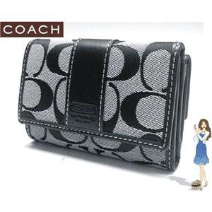 COACH(コーチ) シグネチャー ミニ 3つ折り 財布 ブラック