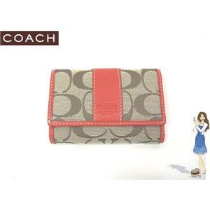 COACH(コーチ) シグネチャー ミニ 3つ折り 財布 オレンジ