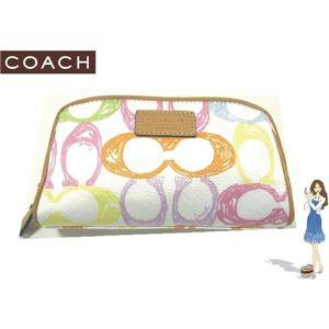 COACH(コーチ) スクリブル コスメティック ポーチ 42521