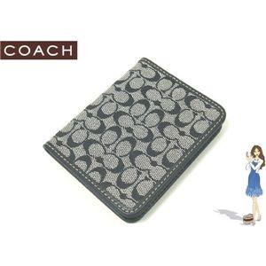 COACH(コーチ) シグネチャー トラベル ピクチャー フレーム パスケース ブラック 60350