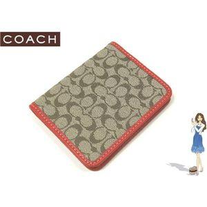 COACH(コーチ) シグネチャー トラベル ピクチャー フレーム パスケース オレンジ 60350