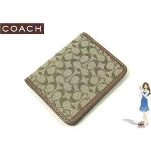 COACH(コーチ) シグネチャー トラベル ピクチャー フレーム パスケース ブラウン 60350
