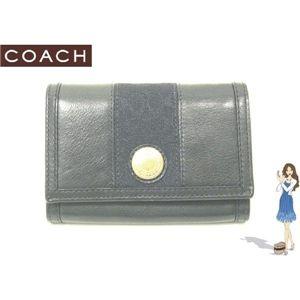 COACH(コーチ) エルゴ レザー コンパクト クラッチ財布 ブラック 41479