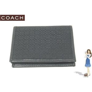 COACH(コーチ) マイクロ シグネチャー ラージ カードケース ブラック S5560