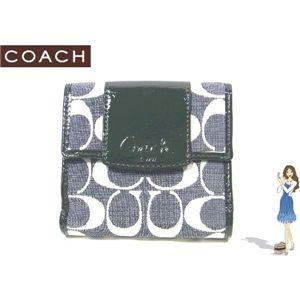 COACH(コーチ) 財布 ペネロピ シャンタン シグネチャー フレンチ パース ブラック 42213
