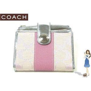 COACH(コーチ) 財布 シグネチャー ストライプ スモール ウォレット ピンク 42248