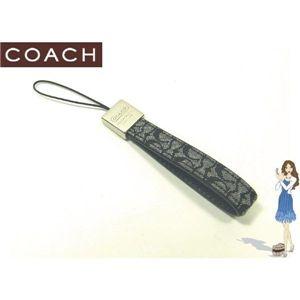 COACH(コーチ) ストラップ シグネチャー ループ セルフォンランヤード ブラック S8869