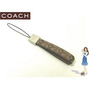 COACH(コーチ) ストラップ シグネチャー ループ セルフォンランヤード ブラウン S8869