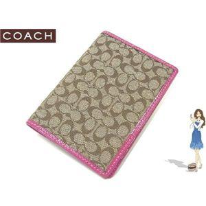 COACH(コーチ) パスポートケース シグネチャー ピンク 60354