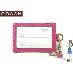 COACH(コーチ) IDカードネックストラップ シグネチャー ランヤード ピンク 60357