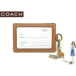 COACH(コーチ) IDカードネックストラップ シグネチャー ランヤード イエロー 60357