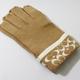 COACH(コーチ)の手袋 ニット手袋 キャメル 80462