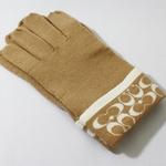 【COACHコーチ】 ニット手袋 キャメル 80462